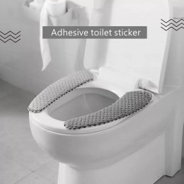 Nordic mata toaletowa grube zimowe poduszka domowe naklejki koło toaleta poszewka wklej uniwersalne zmywalny akcesoria łazienkow