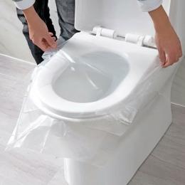 Praktyczna łazienka narzędzia 50 sztuk uniwersalny wc jednorazowe naklejki deska klozetowa pokrywa podróż służbową deska klozeto