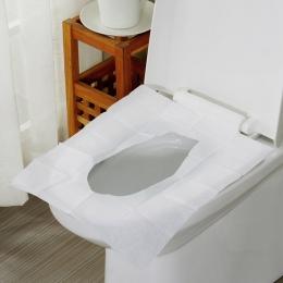 10 sztuk/paczka jednorazowa nakładka na toaletę mata papier toaletowy Pad dla podróży Camping akcesoria łazienkowe arkusze kiesz