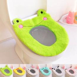 Cartoon zmywalny mata toaletowa przenośny deska klozetowa pokrywa cieplej akcesoria łazienkowe pluszowe poduszki