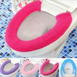 Nowy kwalifikacje ciepłe miękkie pokrycie wc pokrycie nakładka na muszlę Pad łazienka Closestool Protector dec30