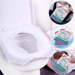 Sprzedaż hurtowa 10 sztuk/paczka jednorazowa nakładka na toaletę mata papier toaletowy Pad dla podróży Camping akcesoria łazienk