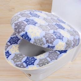 """Ciepły dwuczęściowy w kształcie litery """"O"""" pokrycie wc pokrycie siedzenia koral polar zestaw podróżny na akcesoria łazienkowe"""