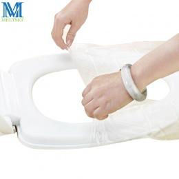 10 sztuk/partia bezpieczeństwa podróży plastikowe jednorazowa nakładka na toaletę wodoodporna