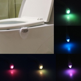 Oświetlona łazienka inteligentny wc lampka nocna LED ruchu ciała włączanie/Off lampa z czujnikiem na muszlę 8 wielokolorowy lamp