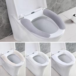 Deska klozetowa poduszki klej toaleta wklej myte wielokrotnego użytku deska klozetowa pokrywa wodoodporna deska klozetowa Pad