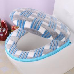 Łazienka akcesoria jesień/zima-wygodne i modne buty-deska klozetowa pokrywa ciepły osłoną na zamek błyskawiczny deska klozetowa