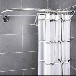 Darmowa zasłona prysznicowa + zakrzywiony narożnik z kurtyna zasłona prysznicowa pręt darmowa wykrawania telescopi zakrzywione ł