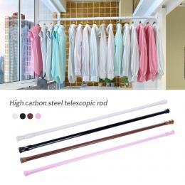 Urijk 1 pc regulowany drążek zasłony Metal wiosna załadowany łazienka Bar prysznic wysuwane drążki teleskopowe szyny wieszak prę
