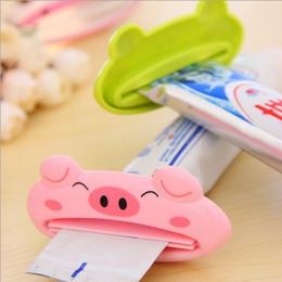 Łazienka Home 1 pc 9 cm * 4 cm śliczne rury Rolling Holder wyciskacz łatwy do Cartoon dozownik pasty do zębów akcesoria Piggy /ż