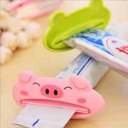 ISHOWTIENDA 1 sztuk 9 cm x 4 cm Cute Animal łazienka domu rury Rolling zębów pasta do zębów wyciskacz łatwy do Cartoon pasty do