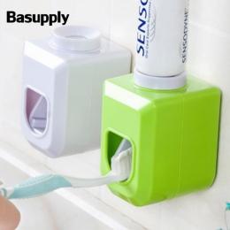 Basupply 1 Pc nowe wolne ręce automatyczny dozownik pasty do zębów pasta do zębów pasta do zębów z do montażu na ścianie łazienk