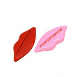 Losowy kolor kształt warg pasta do pasty do mycia twarzy myjka do czyszczenia pianki krem rolki dozownik do wyciskania ABS klip