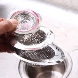 Okrągły kanalizacji spustowy włosów Colanders łazienka Sink sitko gadżety kuchenne odpływ podłogowy ze stali nierdzewnej Anti-bl