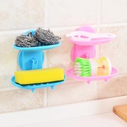 Podwójne warstwy silne Sucker Soapbox mydelniczka mydelniczka łazienka Box