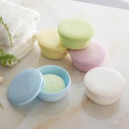 Przenośny kolor mydelniczka Box Case Holder pojemnik umyć prysznic domu łazienka zamknięte mydelniczka okrągły podróży dostaw