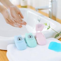 Mini podróży płyn do mycia rąk podróży pachnące slajdów piankowe pudełko papierowe mydło