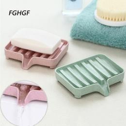 Moda plastikowa mydelniczka pudełko do przechowywania kolorowe naczynia wanna mydelniczka łazienka Organizer uchwyt gąbki płyta