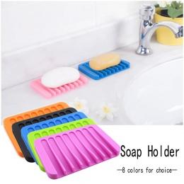 1 PC nowa silikonowa kuchnia łazienka elastyczny mydelniczka płyta tacka pudełko na mydło cukierkowe kolory