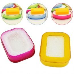 Nowa gąbka mydelniczka płyta łazienka zestaw mydelniczka losowy kolor