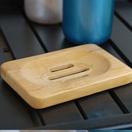Naturalne drewno bambusowe łazienka prysznic tacka na mydło uchwyt do przechowywania Plat mydło bambusowe mydło box produkty łaz