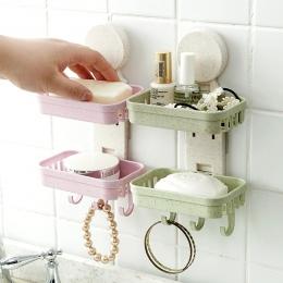 Łazienka prysznic mydelniczka pojemnik na naczynia do przechowywania płyta tacka przypadku mydelniczka podwójne sprzedaż hurtowa