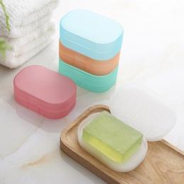 1 sztuk kreatywny Mini łazienka Dish Plate Case domu prysznic podróży piesze wycieczki uchwyt pojemnik pudełko na mydło