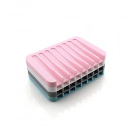 1 Pc łazienka silikonowy elastyczny mydelniczki uchwyt do przechowywania jednolity kolor mydło płyta taca drenażu narzędzia do k