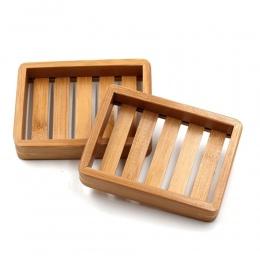 1 sztuk przenośny mydelniczki kreatywny prosty bambus ręczny spust mydło box łazienka łazienka w stylu japońskim mydło mydło box