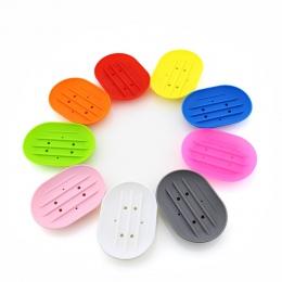 1 pc moda silikonowy elastyczny mydelniczka płyta łazienka mydelniczka podróży uchwyt danie nowy cukierki kolor mydelniczka łazi