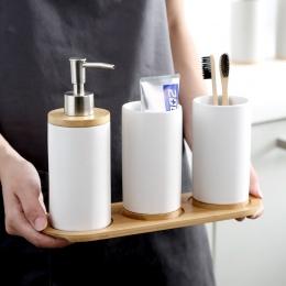 Ceramiczne bambusowe łazienka kubki do szczotkowania zębów kubek łazienka emulsji pojemnik kuchnia zastawa stołowa płynu do myci