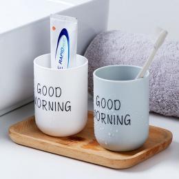 Szczotkowanie puchar łazienka na kubek do zębów kubek wody gospodarstwa domowego z tworzyw sztucznych para kubek na szczoteczki