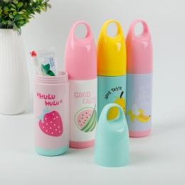 Przenośna podróżna szczoteczka do zębów pasta do zębów pole ze szczoteczką do czyszczenia owoców dla dzieci przypadku pojemnik n