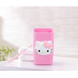 Hello Kitty pary kubek szczoteczka uchwyt łazienka akcesoria domowe płyn do płukania ust kubki podróży