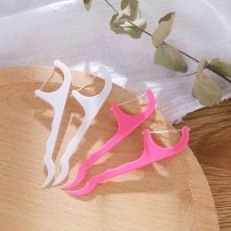 50 sztuk nić dentystyczna zębów nici szczoteczka międzyzębowa wykałaczki opieka stomatologiczna zębów Stick Tandenstokers ochron