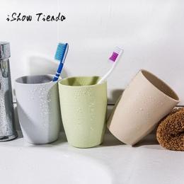 Łazienka kubki podróży kubek biurowy kawy butelka na herbatę kubki słomy strona główna z tworzywa sztucznego kubek na szczoteczk