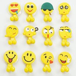 Emoji sucker uchwyt na szczoteczki do zębów ssania haczyki wielofunkcyjny wyrażenie przyssawką dzieci akcesoria łazienkowe przyj