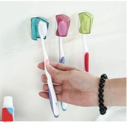 3 sztuk uchwyt na szczoteczkę do zębów odporna na kurz, do montażu na ścianie przyssawka szczoteczka do zębów pokrywa stojak cza