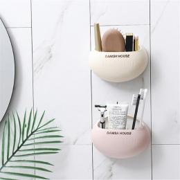 1 sztuk śliczne jaja projekt szczoteczka do zębów uchwyt ścienny przyssawki prysznic uchwyt na akcesoria łazienkowe makijaż narz