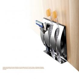 1 sztuk ze stali nierdzewnej do montażu na ścianie uchwyt na szczoteczkę do zębów 3/2 hak samoprzylepne zębów organizer do pędzl