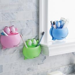 Akcesoria łazienkowe szczoteczka do zębów uchwyt ścienny przyssawki prysznic Holder śliczne żaba Sucker uchwyt na szczoteczki do