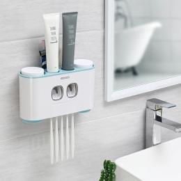 Do montażu na ścianie Auto wyciskania pasty do zębów dozownik szczoteczka do zębów uchwyt przyssawka zestaw akcesoria łazienkowe