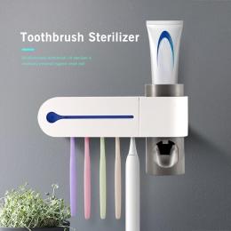 ABEDOE 2 w 1 UV sterylizator szczoteczki do zębów szczoteczka do zębów automatyczna pasta do zębów dozownik wyciskacz zestaw do