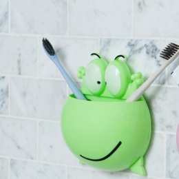 Ściany Sucker duże oko żaba z tworzywa sztucznego szczoteczka do zębów uchwyt na półkę Cartoon domu łazienka organizator narzędz