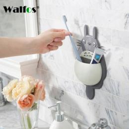 WALFOS wysokiej jakości uchwyt na szczoteczkę do zębów śliczne Totoro szczoteczka do zębów uchwyt do montażu na ścianie Sucker s