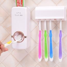 Akcesoria łazienkowe zestaw szczotka do zębów uchwyt automatyczny dozownik pasty do zębów uchwyt szczoteczki do zębów wieszak mo
