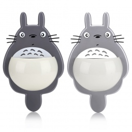 Sucker stojak przechowywania Totoro szczoteczka i pasta do zębów posiadacze z 3 przyssawkami lustro na ścianie lustra łyżka posi