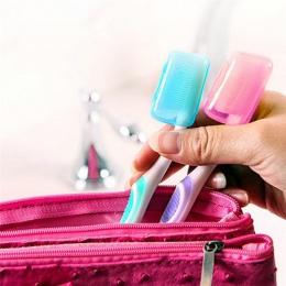 5 sztuk przenośne szczoteczka do zębów i pasty do zębów posiadacze turystyczne piesze wycieczki szczoteczki do zębów głowy osłon