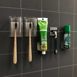PTOC 304 ze stali nierdzewnej do przechowywania ścienny hak naklejki dla pasta do zębów szczoteczka do zębów, stojaki do przecho