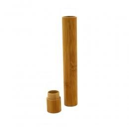 1 PC podróży uchwyt na szczoteczkę do zębów przenośny naturalny szczoteczka bambusowa Case Tube do podróży przyjazne dla środowi